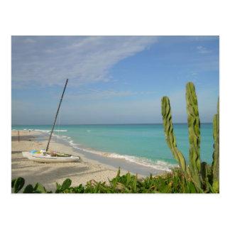 Cuban Beach Postcard