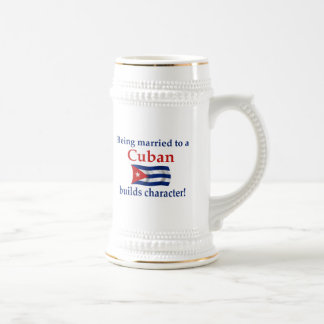 Cuban Builds Character 18 Oz Beer Stein