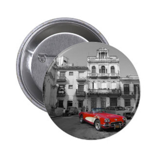 Cuban Cars 3 2 Inch Round Button
