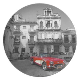 Cuban Cars 3 Dinner Plate