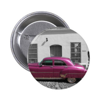 Cuban Cars 4 2 Inch Round Button