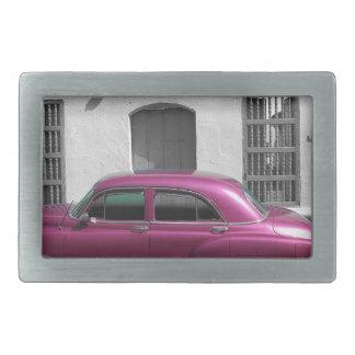 Cuban Cars 4 Rectangular Belt Buckles