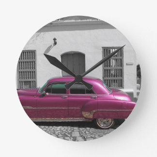 Cuban Cars 4 Wall Clock