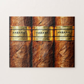 Cuban Cigars Habana Gold Vip Smoke Club Jigsaw Puzzle