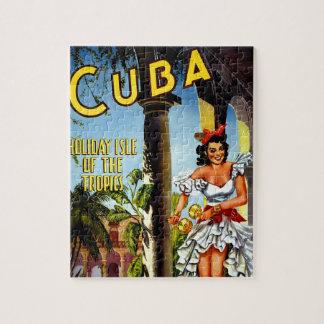 Cuban Dancer Vintage Travel Jigsaw Puzzle