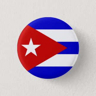 Cuban Flag 1 Inch Round Button