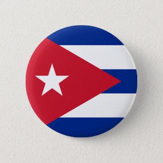 Cuban Flag - Bandera Cubana - Flag of Cuba 2 Inch Round Button