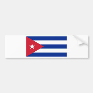 Cuban Flag - Bandera Cubana - Flag of Cuba Bumper Sticker