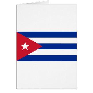 Cuban Flag - Bandera Cubana - Flag of Cuba Card