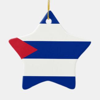 Cuban Flag - Bandera Cubana - Flag of Cuba Ceramic Ornament