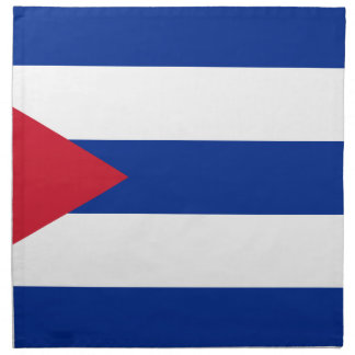 Cuban Flag - Bandera Cubana - Flag of Cuba Cloth Napkins