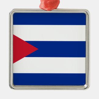 Cuban Flag - Bandera Cubana - Flag of Cuba Metal Ornament