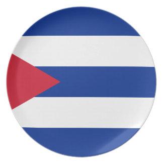Cuban Flag - Bandera Cubana - Flag of Cuba Plate
