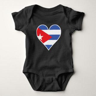 Cuban Flag Heart Baby Bodysuit