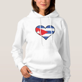 Cuban Flag Heart Hoodie