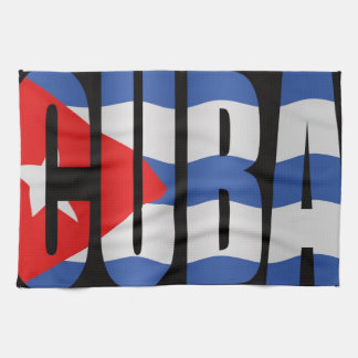 Cuban flag kitchen towel