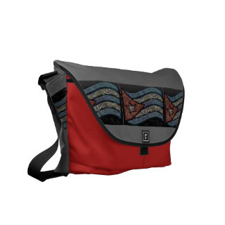 Cuban flag messenger bag