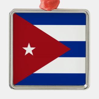 Cuban Flag Metal Ornament