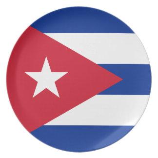 Cuban Flag Plate