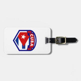 Cuban Flag Shield Luggage Tag