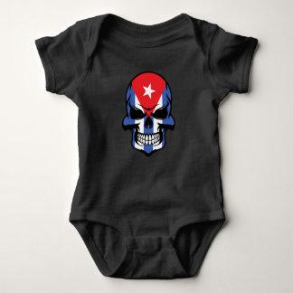 Cuban Flag Skull Baby Bodysuit