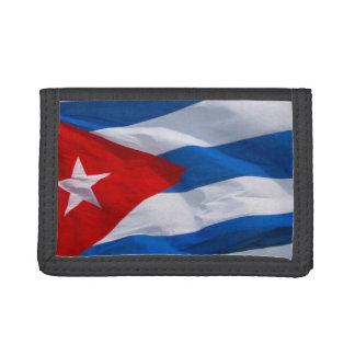 cuban flag trifold wallet