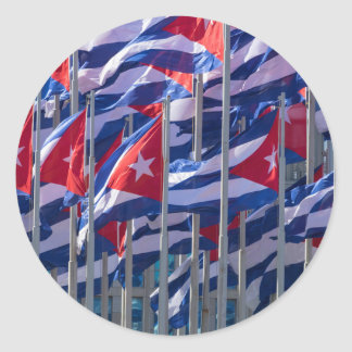 Cuban flags, Havana, Cuba Classic Round Sticker