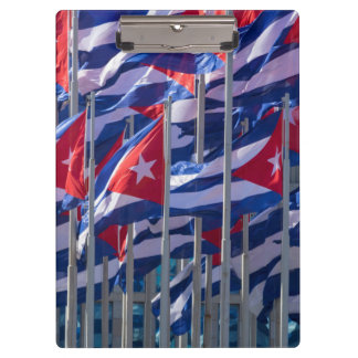 Cuban flags, Havana, Cuba Clipboards