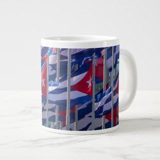 Cuban flags, Havana, Cuba Giant Coffee Mug