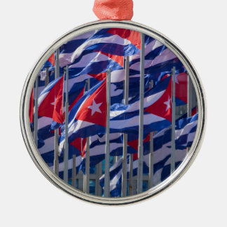 Cuban flags, Havana, Cuba Metal Ornament