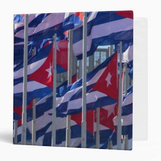 Cuban flags, Havana, Cuba Vinyl Binder