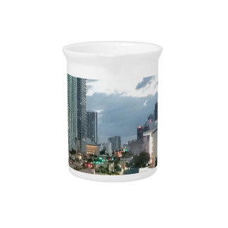 Cuban Freedom Tower in Miami 2 Beverage Pitcher
