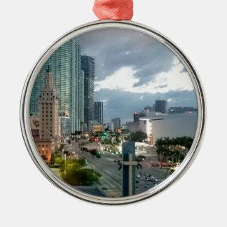 Cuban Freedom Tower in Miami 2 Metal Ornament