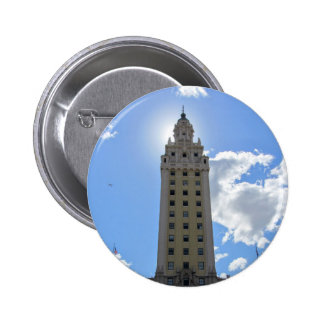 Cuban Freedom Tower in Miami 4 2 Inch Round Button