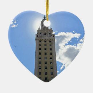 Cuban Freedom Tower in Miami 4 Ceramic Ornament