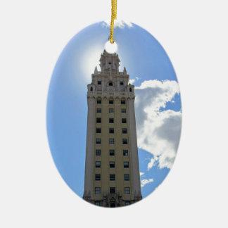 Cuban Freedom Tower in Miami 4 Ceramic Oval Ornament