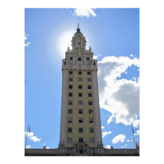 Cuban Freedom Tower in Miami 4 Letterhead Template