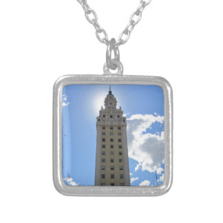 Cuban Freedom Tower in Miami 4 Silver Plated Necklace