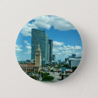 Cuban Freedom Tower in Miami 5 2 Inch Round Button