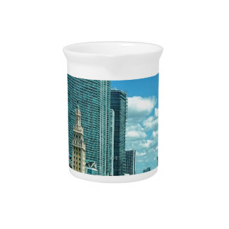 Cuban Freedom Tower in Miami 5 Beverage Pitcher