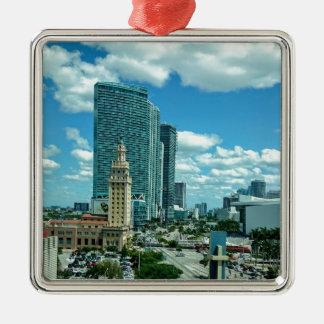 Cuban Freedom Tower in Miami 5 Metal Ornament