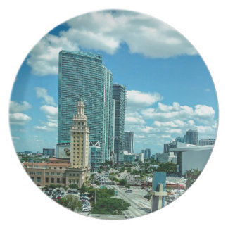 Cuban Freedom Tower in Miami 5 Party Plates