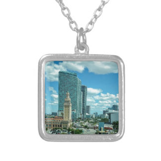 Cuban Freedom Tower in Miami 5 Silver Plated Necklace