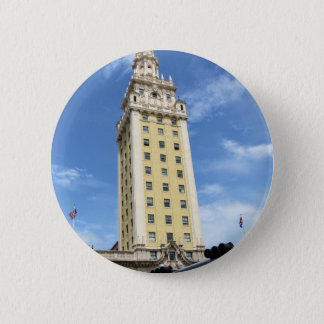 Cuban Freedom Tower in Miami 6 2 Inch Round Button