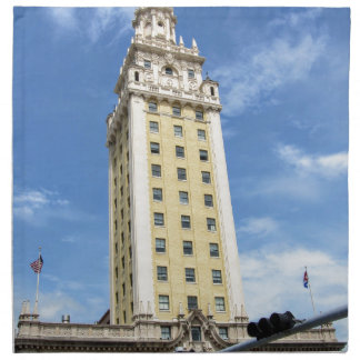 Cuban Freedom Tower in Miami 6 Napkin