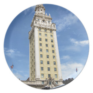 Cuban Freedom Tower in Miami 6 Party Plate