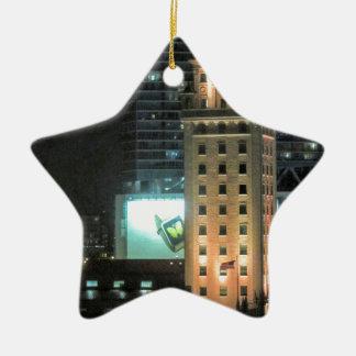 Cuban Freedom Tower in Miami 7 Ceramic Star Ornament