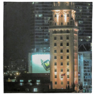 Cuban Freedom Tower in Miami 7 Printed Napkins