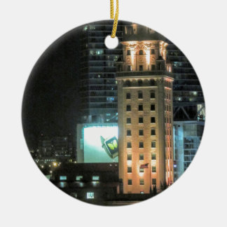 Cuban Freedom Tower in Miami 7 Round Ceramic Ornament