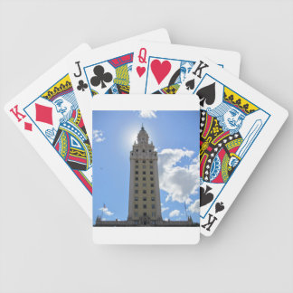 Cuban Freedom Tower in Miami Bicycle Playing Cards